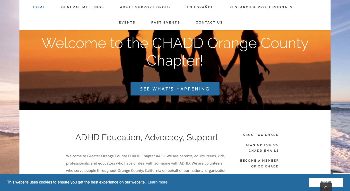 Home Page Image for OC CHADD